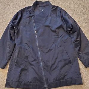 EILEEN FISHER Asymmetrical Waxed Moto Jacket